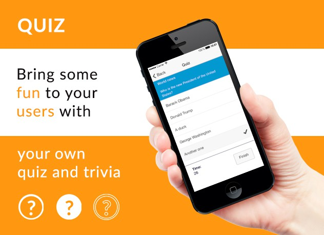 Quiz: Add fun to your apps - Siberian CMS App Maker