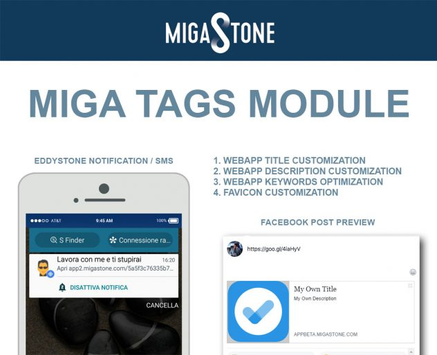 Miga TAGS - Siberian CMS, features and modules marketplace for app creation